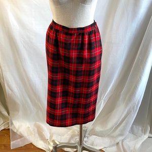 Vintage Pendleton Tartan Cunningham Plaid Skirt